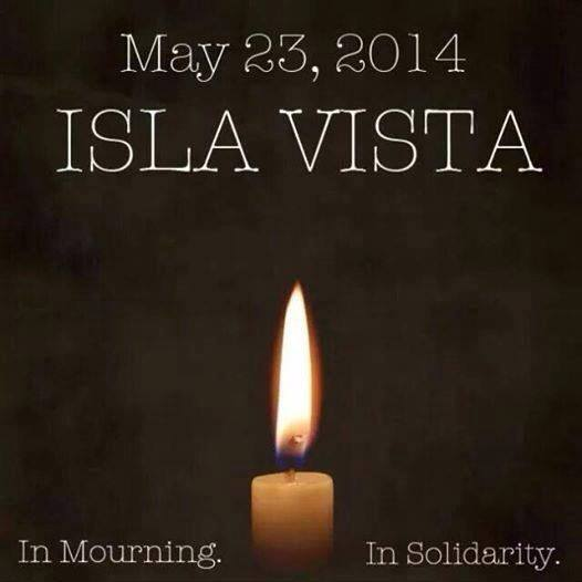 Isla Vista memorial candle